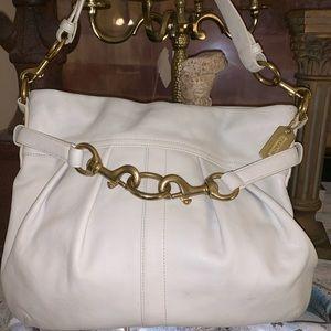 Coach medium leather bag